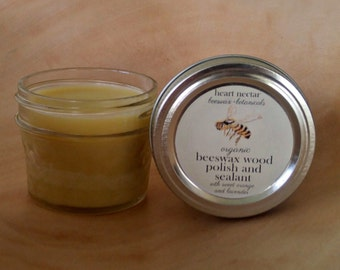 Beeswax Wood Polish and Sealant ~Unscented~ 4oz.