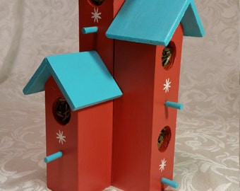 Decorative Orange Birdhouse