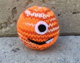 Hand Knit Monster, Monster, Knit Monster, Knit Animal, Toy Monster, Stuffed Animal, Stuffed Monster, Knitted Animal, Knitted Monster