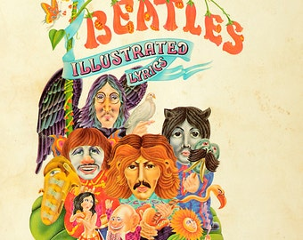 The Beatles Illustrated Lyrics Hardcover Book