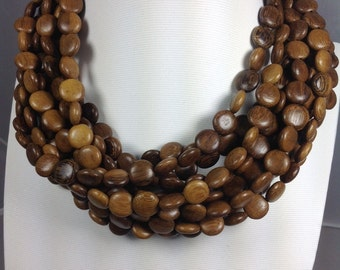 Robles Wood 12x5 mm coin shape wood beads