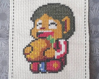 Alex Kidd Cross Stitch Pattern