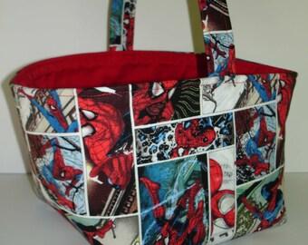 Spiderman Easter Basket - Super hero Easter Basket - Boy Easter Basket - Spiderman Room Decor - Spiderman Fabric Basket
