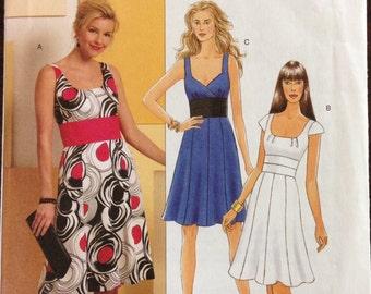 Butterick B5350 - Sleeveless Dress with Shaped Waist and Gored Skirt - Size 8 -14