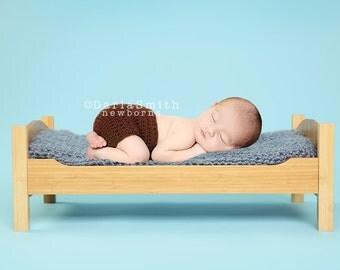 Newborn Digital Backdrop Instant Download Baby Boy Blue Bed Scene Prop Newborn Baby Photography