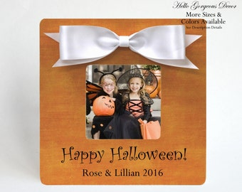 Halloween Picture Frame Personalized Gift from Kids Baby Gift to Grandparents Aunt Uncle Grandmother Grandfather Parents Halloween Decor