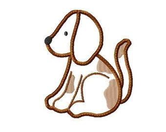 Applique Machine Embroidery Design Baby Puppy