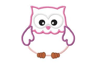 Applique Machine Embroidery Design Baby Owl
