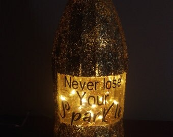 Never Lose Your Sparkle LED Wine Bottle Lamp