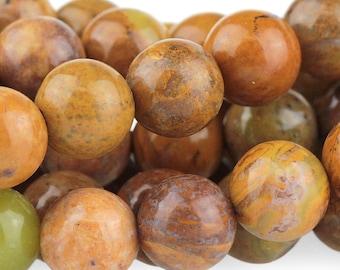 Golden Yellow Jasper Beads, Genuine Jasper Gemstone Beads, Jasper Stone Mala Beads, 8mm - 25 beads (ST-63)