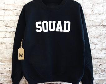 Squad Sweatshirt. Squad Shirt. Squad Jumper. Fleece Crewneck Sweatshirt. BFF Sweatshirt. Girl Squad Team  Besties  Bestfriends Xmas