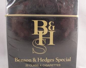 BENSON & HEDGES Special - Limited Black and Gold Packaging - Vintage Cigarettes