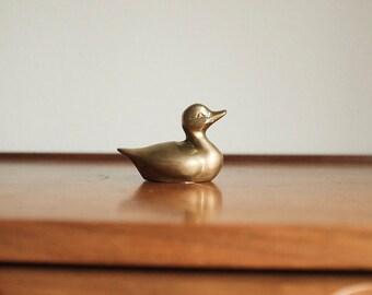 Vintage Brass Duck