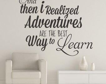 Adventures are the best Way to Learn - Quotes - Phrases - Typography - Stickers - Inspirational - Motivational - Home Decor - SKU:AABWTL