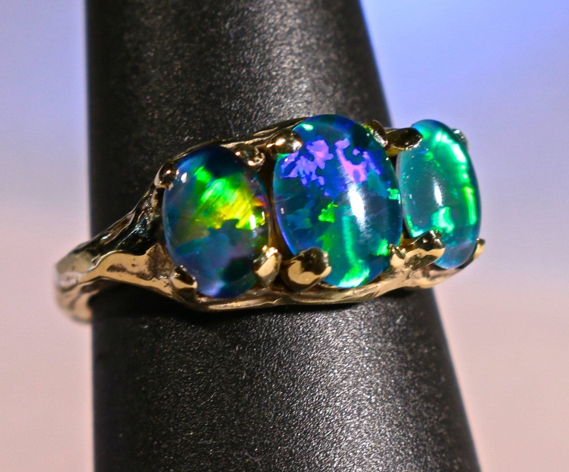 see video opal engagement ring handmade natural australian. Black Bedroom Furniture Sets. Home Design Ideas