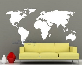 World map furniture or wall stencil 3 different sizes world map wall world map wall stencil gumiabroncs Choice Image