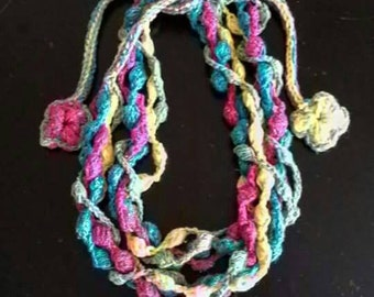 Necklace, crochet necklace, Handmade necklace, crochet jewelry, handmade necklace, Crochet