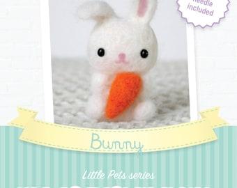 Bunny - DIY wool felting kit