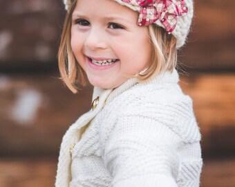 Girl Knit Headband-Kids Knitted Headband,Kids Ear Warmer-Toddler Headband,Hair Accessory,Baby Girl Turban,Little Girl Band,Knit Band
