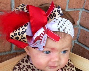 Baby girl christmas over the top headband
