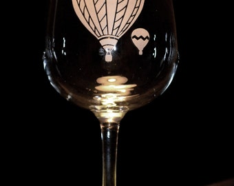 Hot Air Balloon Wine Glasses - Set of 2