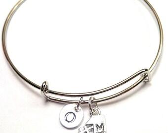 Number One Mom Bangle Bracelet, Adjustable Expandable Bangle Bracelet, Mom Jewelry, Mom Charm, Mom Pendant, Mom Bracelet, Mother Bracelet