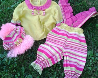 toddler girl clown costume , baby girl costume , pink and green clown costume , baby girl clown costume , kids costumes , toddler costumes