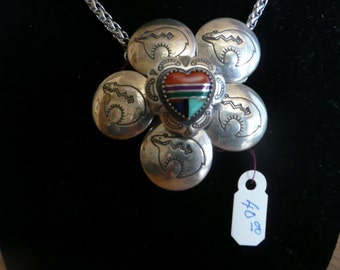 SOUTHWEST STYLE necklace made from button covers