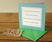 Anniversary Card - Funny Anniversary - Rude Card - Wedding Anniversary - Anniversary Gifts - 10 Year Anniversary - Gin - Wine - Beer - Card