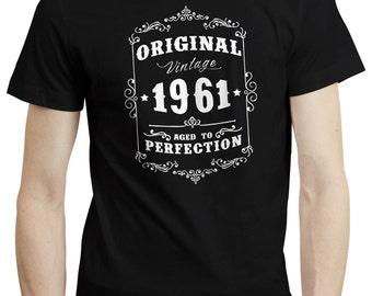 55th Birthday Gift Original Vintage 1961 T shirt Tshirt Tee Gift Funny