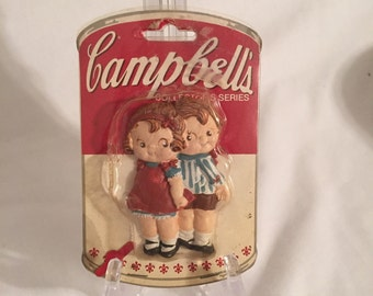 Vintage Magnet Campbell's Soup Kids Couple Magnet Collector's Series Nostalgic Refrigerator Magnets
