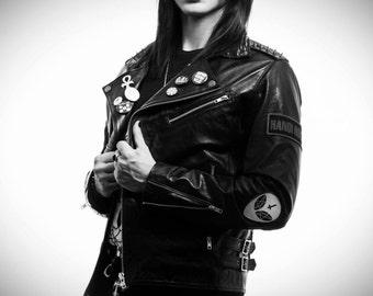 Glam Rock - men's leather jacket (Free shipping)