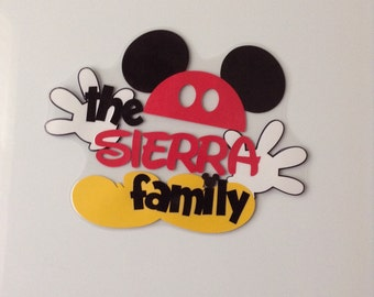 Personalized Family Name Disney Cruise Door Magnet