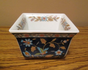 Dipping Dish - Japanese Tajimi-Shi - Small Square - Excellent Vintage Condition - Gorgeous Colors -  with Free Shipping