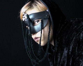 SALE! Braided Black - Avant Garde Costume Party Mask - Ready To Ship!