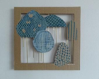 Wall decoration on cardboard - LUIE