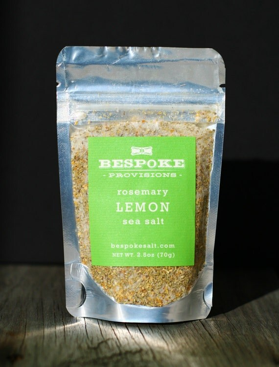 Rosemary and Lemon Sea Salt pack size by BespokeSalt on Etsy