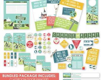 2017 LDS Primary Bundled Package - Choose the Right Primary Printables - Now on SALE - MB