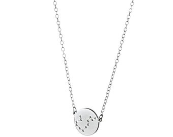 Aquarius Necklace / Zodiac Necklace / Horoscope Necklace / Sterling Silver / 14k Gold over Silver / Dainty & Delicate Necklace