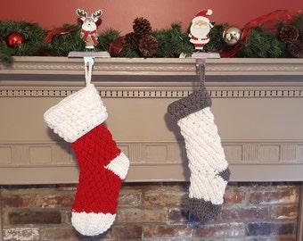 Custom Crochet Christmas Stocking - Christmas Stocking - Christmas Decoration - Crochet Stocking - Christmas in July - Personalized Stocking