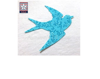 4 Iron on Bird Applique Iron On Baby Applique Bird Cutout Quilt Supplies Iron On Quilt Applique Shapes Mug Rug Applique Baby Bib Iron On