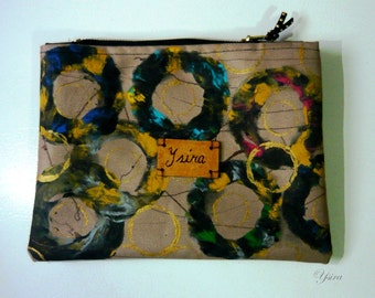 Hand-painted clutch purse