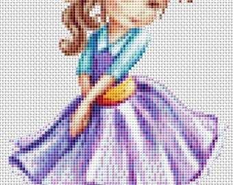 Little Cutie Cross Stitch Chart