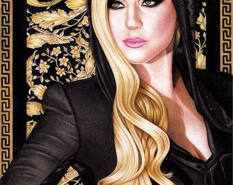 Original Lady Gaga drawing (42x30cm)