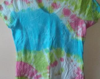 Pastel Tie Dye Shirt ~Women's Medium~   V-Neck Tye Dye Shirt, Pastel Goth, Kawaii Clothing, Tumblr Fashion, Pastel Clothing, Grunge, Hippie