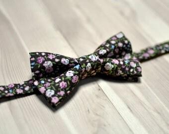 Floral bow tie, vintage bow tie, wedding bow tie, men's bow tie, women's bow tie, baby bow tie, gift bow tie.