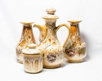 Honeycomb Cruet Set by Fosters Pottery
