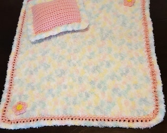 18 Inch Doll blanket and pillow