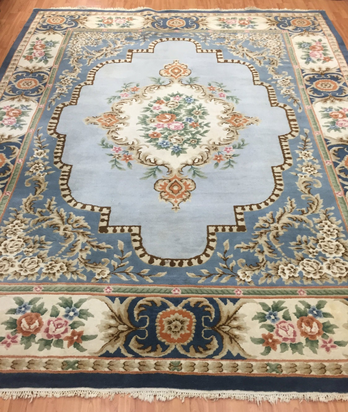 Oriental Rugs Out Of Style: 8' X 10' Chinese Aubusson Oriental Rug Full Pile