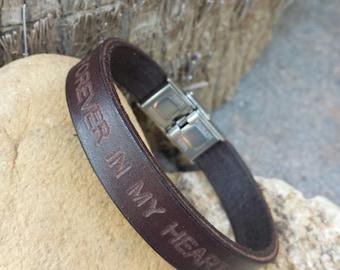 FREE SHIPPING-Mens Leather Bracelet,Men Personalized Bracelet,Custom Leather Bracelet,Engraved Bracelet,Bracelet For Men.Men Custom Bracelet